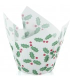 P60 x 175-841RP - Texas Muffin Wrap, Christmas Holly (250 ctn)