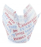 P60 x 175-843RP - Texas Muffin Wrap, Celebrate Christmas (250 ctn)