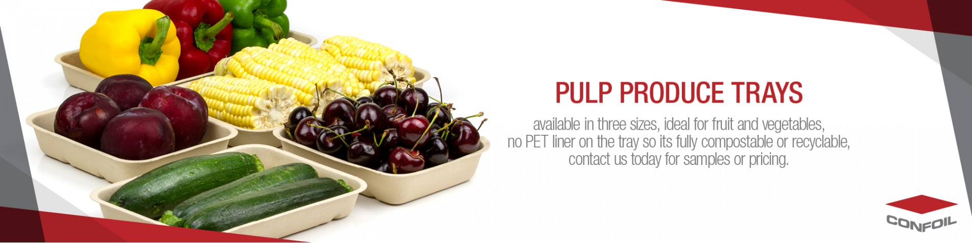 Pulp produce trays